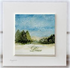 Two cards with the new stamp set from Penny Black! Love this set! Peaceful Winter Thanks!