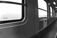 Poster 'train passengers' modern fine art print by UrbanPoster