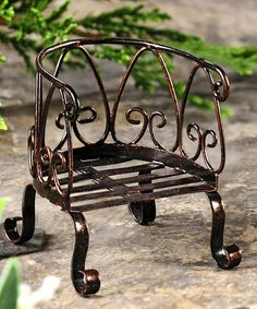 Look what I found on #zulily! Garden Chair Mini Figurine #zulilyfinds