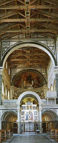 Basilica San Miniato al Monte -Interior Detail-  in Florence - Tuscany | Italy