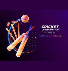 Abstract of cricket sport from vector image on VectorStock Cricket Logo, Cricket Bat, Cricket Sport, Free Vector Images, Vector Free, Stadium Wallpaper, Cricket Equipment, Thing 1, Cricket