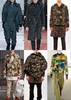 Menswear A/W 15-16 Print trend highlights: London, Paris & Milan – Part 2 - Fall Camo