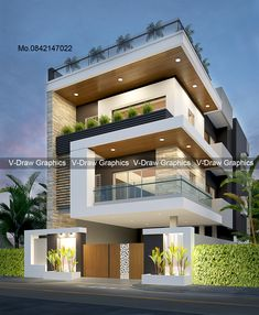 3 Storey House Design, Simple House Design, Bungalow House Design, House Front Design, Minimalist House Design, Cool House Designs, Modern House Design, Le Riad, House Architecture Styles