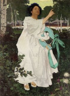 """Józef Mehoffer. """"The Muse"""", 1897."""