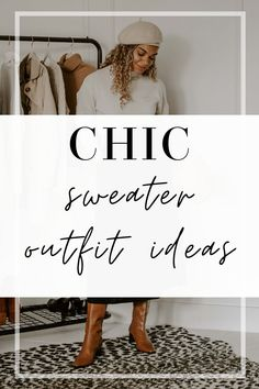A classic sweater deserves a place in everyone's wardrobe all the time, but especially in fall. It is on my classic capsule list after all! Whether worn by itself or as a layering piece, it's an item that you'll wear over and over again. In this post, you're going to get ideas for 4 chic sweater outfits as well as where you can shop to get affordable quality pieces! #falloutfit #sweateroutfit #cashmeresweater #fallstyle #fallfashion