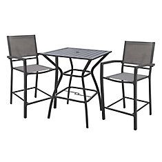 White Rock High Dining Chair in Grey (2-Pack)