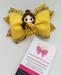 Your place to buy and sell all things handmade Disney Princess Hairstyles, Princess Hair Bows, Princess Belle, Baby Name Tattoos, Son Tattoos, Family Tattoos, Print Tattoos, Disney Bows, Disney Diy