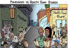Pharmacies vs Health Food Stores