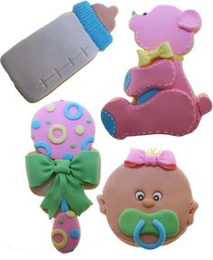 Fondant Baby Things (baby face for Gingerbread baby)