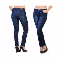 19€ Pantalon jeans bleu délavé Tatoo Floral - bestyle29.com