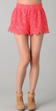 Free People, Scalloped Lace Shorts, $78.00