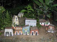 These Painted Rocks looked exactly like a village model!