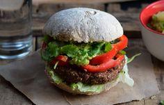 Caribbean Jerk Millet Burgers With Pineapple Guacamole [Vegan] | One Green Planet