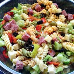 "Extreme Pasta Salad - ""A must have at bbqs"" @allthecooks #recipe"