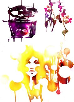 Edgy Watercolor Paintings, Artist Spotlight: Stina Persson Fashion Illustration
