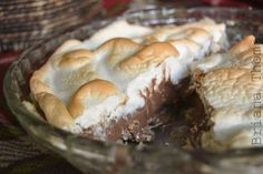 S'mores Pie-this low-carb, sugar-free dessert is a healthy take on that classic campfire snack.
