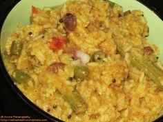 Sambar Rice or Kadamba Sadam with Ghee on Top!