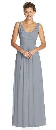 Dessy Collection Bridesmaid Dress 3026 Grey Bridesmaids 306abf393895