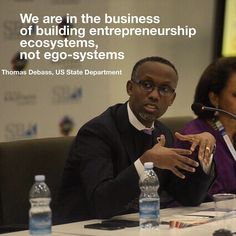 We are building entrepreneurship ecosystems, not ego-systems