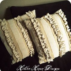 I love really rustic pillows ....