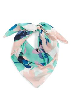 Main Image - Halogen® Kelley Floral Square Silk Scarf