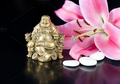 Check out Buddha, stones and lily flower by LiliGraphie on Creative Market