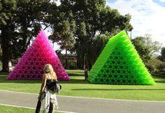 Contemporary Korean Pop Art, Perth Arts Festival 2012, Air Air Pink pyramid, Green Pyramid, Choi Jeong Hwa