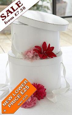 649968eeb8d Hat Boxes - Set of 3 White