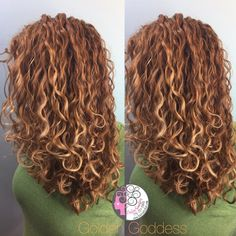 Golden balayage naturally curly hair by Carleen Sanchez Nevada's Curl Expert www.haircutcolor.com 775.721.2969