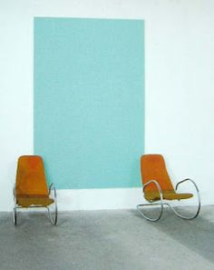 painted block on wall instead of art. John Armleder, Mid Century Modern Furniture, Mood, Beautiful Space, Decoration, Building A House, Design Art, Contemporary Art, Furniture Design