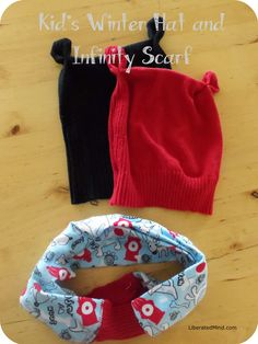 Winter hat and infinity scarf for kids