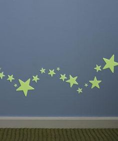 Glow-in-the-Dark Stars as Nightlights   Create a well-lit path he can follow from his room to the bathroom. Line up stars near the baseboard and make sure they get plenty of light during the day. You'll get fewer bumps (or cries for Mom) in the night.