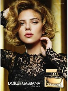 Scarlett Johansson Dolce & Gabbana The One perfume-love the cat eye and the hair