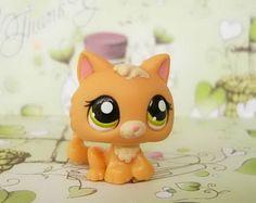 Littlest Pet Shop Orange Baby Cat Green Eyes 1998 | eBay #lps #hasbro #kitten