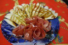 LA VERA  IN BUCATARIE: Carpaccio de pere cu prosciutto crudo Prosciutto, Tacos, Mexican, Ethnic Recipes, Food, Meal, Essen