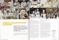 2 page article I wrote about Bocuse d'Or & Pastry World Cup in 2009 for Yes Chef magazine.  The competitions are held biannually in Lyon, France. #pastryworldcup #foodwriter #chefkevinashton #bocusedor #yeschef #magazine
