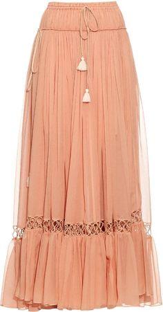 CHLOÉ Silk-crepon drawstring maxi skirt  https://api.shopstyle.com/action/apiVisitRetailer?id=520617848&pid=uid2500-37484350-28