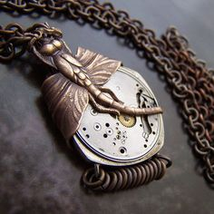 Dragonfly Works - steampunk necklace