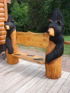chainsaw carved harley davidson bench | been lurkin but workin...