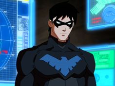 As the first Robin, Dick Grayson was the most famous sidekick in comic book history. As he ventured forth on his own, he formed the Teen Titans and became their leader. When the boy became a man, he became the independent hero known as Nightwing. Nightwing Young Justice, Nightwing And Starfire, Batman Comics, Dc Comics, Hero Tv, Richard Grayson, Marvel Animation, Batman Family, Inspiration For Kids