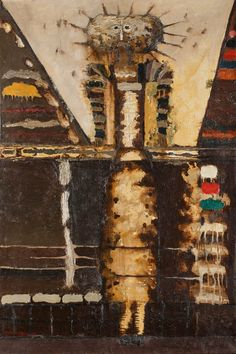 Poz. 63. Jan Lebenstein (1930-1999), Figura hieratyczna; 1956 r.; olej, płótno; 97 x 64,5 cm; opisany na odwrocie: LEBENSTEIN 56/ Figura hieratyczna. Cena wywoławcza: 80 000 zł. Estymacja: 90 000 – 110 000 zł. 9 października na aukcji dzieł sztuki w Domu Aukcyjnym Polswiss Art licytowany będzie m.in. obraz jednego z najwybitniejszych polskich artystów - Jana Matejki. http://artimperium.pl/wiadomosci/pokaz/392,obraz-jana-matejki-na-aukcji-w-domu-aukcyjnym-polswiss-art#.VCrIvfl_uSoa