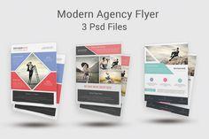 Modern Agency Flyer Templates by DeviserWeb on Creative Market