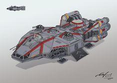 Star Wars Ship Design by Ferain