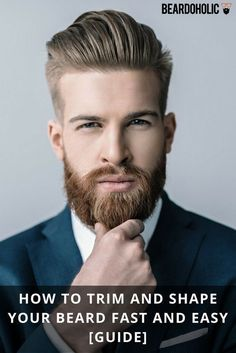 Beard grooming has never been so easy before. In this article, our aim is to provide you with the easiest and best ways to have a well groomed beard. Beard Styles For Men, Hair And Beard Styles, Trimmed Beard Styles, Beard And Hairstyles, Hairstyle Men, Beard Trimming Guide, Mens Beard Grooming, Men Beard, Epic Beard