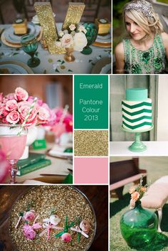 Emerald Wedding Inspiration - Pantone Colour 2013 // Bow Occasions - The Blog