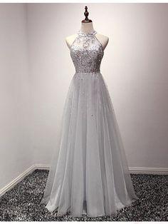 Gray Prom Dress,Tulle Prom Dress,Prom Dresses,Gray Prom Dresses,Formal