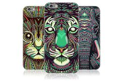 cool New Style black cat cover case for coque iphone 6 iphone6 s 4.7 coque animal case cat tiger elephant by pc cute Cartoon Phone