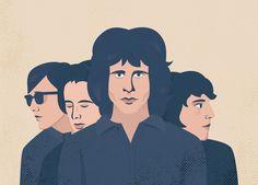 16 ilustradores rinden tributo a The Doors en su 50 aniversario