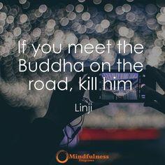 If you meet the Buddha on the road kill him. -Linji
