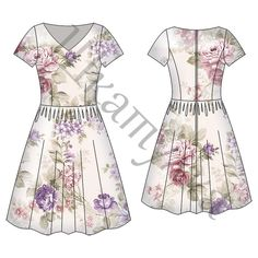 Pattern of womens dress WD240418